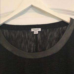 Splendid Tops - Splendid black top with leather trim